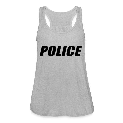 Police Black - Women's Flowy Tank Top by Bella