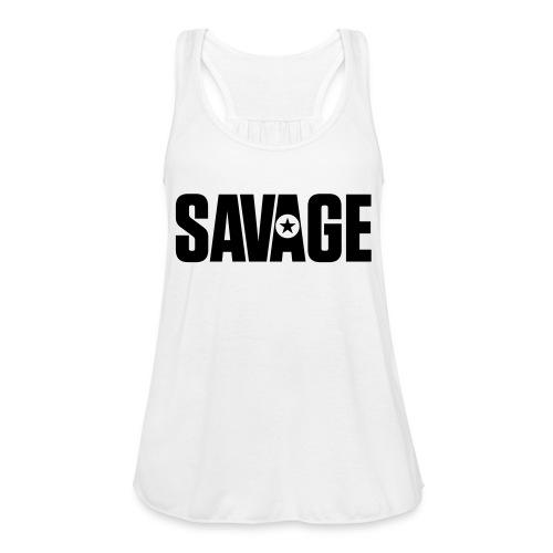 SAVAGE - Women's Flowy Tank Top by Bella