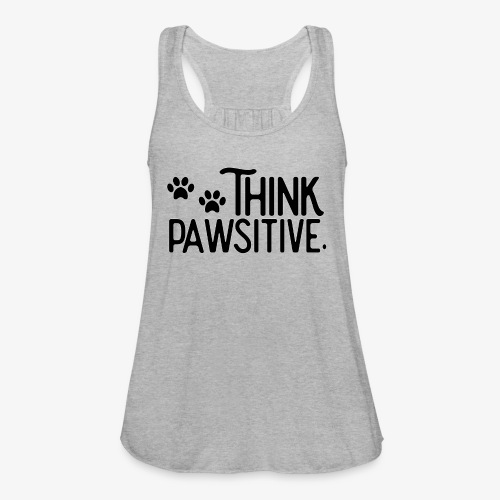 Think Positive - Paws - Women's Flowy Tank Top by Bella