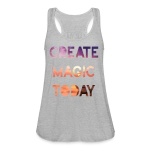 Create Magic Today - Sunset - Women's Flowy Tank Top by Bella