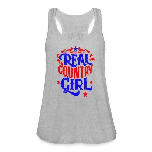Real Country Girls - Women's Flowy Tank Top by Bella