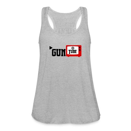 guntube larger logo - Women's Flowy Tank Top by Bella