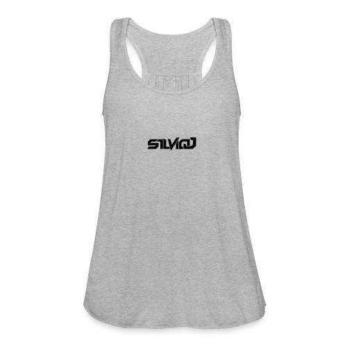 SilvioJ Text Logo Black - Women's Flowy Tank Top by Bella
