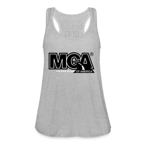 MCA Logo WBG Transparent BLACK TITLEfw fw png - Women's Flowy Tank Top by Bella