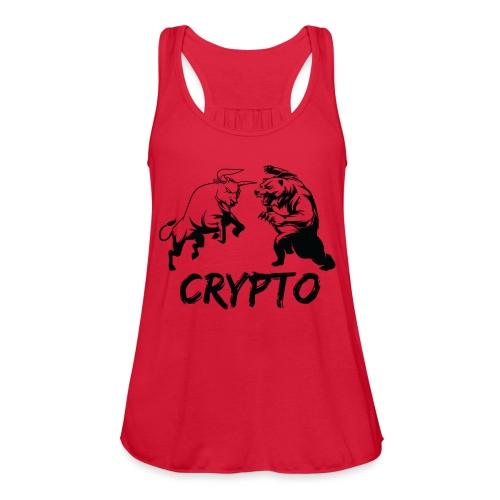 CryptoBattle Black - Women's Flowy Tank Top by Bella