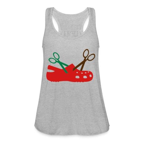 I Hate Crocs Scissor Design - Women's Flowy Tank Top by Bella