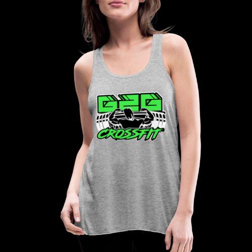 Green Black Half Logo - Women's Flowy Tank Top by Bella