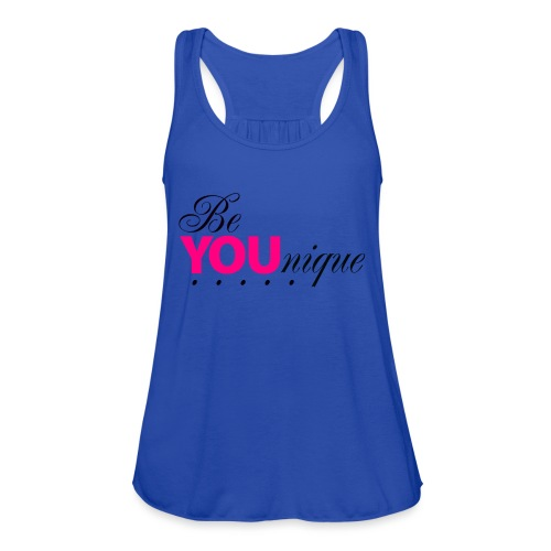Be Unique Be You Just Be You - Women's Flowy Tank Top by Bella