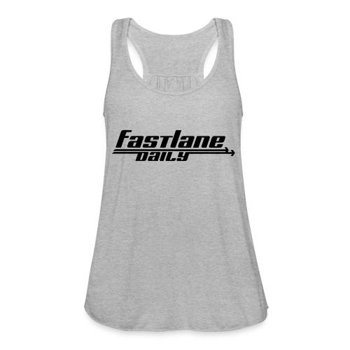 Fast Lane Daily logo - Women's Flowy Tank Top by Bella