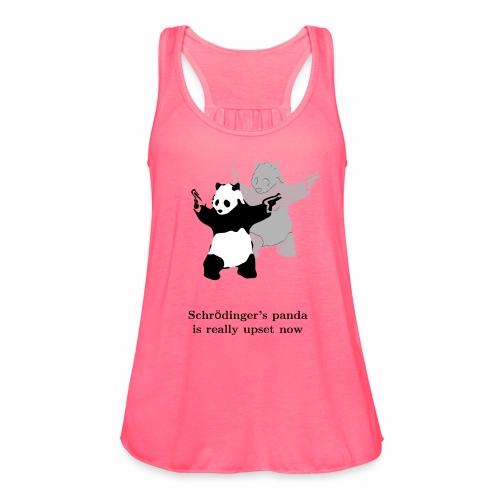 Schrödinger's panda is really upset now - Women's Flowy Tank Top by Bella