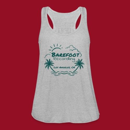 Barefoot Recording Beach Logo - Women's Flowy Tank Top by Bella