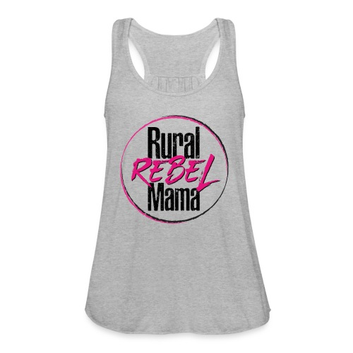Rural Rebel Mama Logo - Women's Flowy Tank Top by Bella