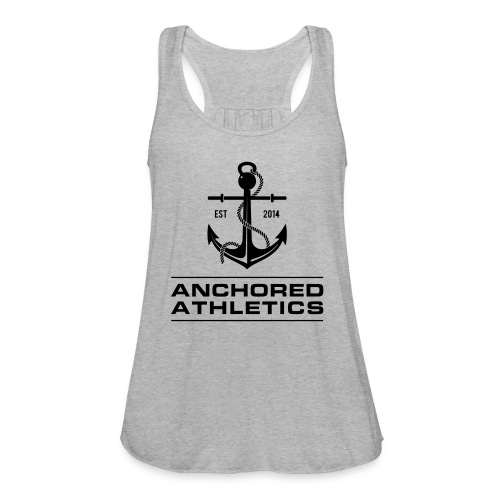 Anchored Athletics Vertical Black - Women's Flowy Tank Top by Bella