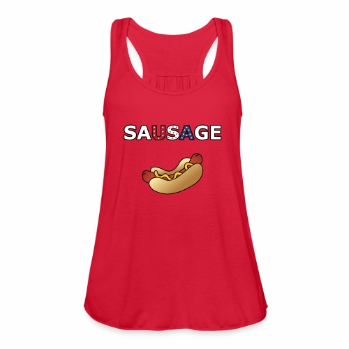 Patriotic BBQ Sausage - Women's Flowy Tank Top by Bella