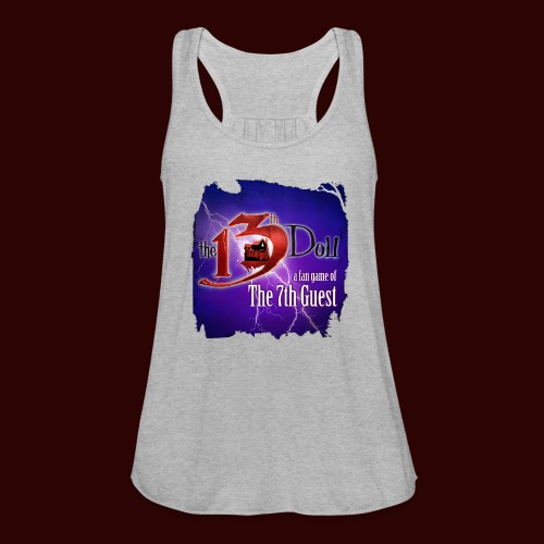 The 13th Doll Logo With Lightning - Women's Flowy Tank Top by Bella
