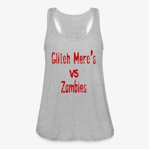 glitch zombie red - Women's Flowy Tank Top by Bella