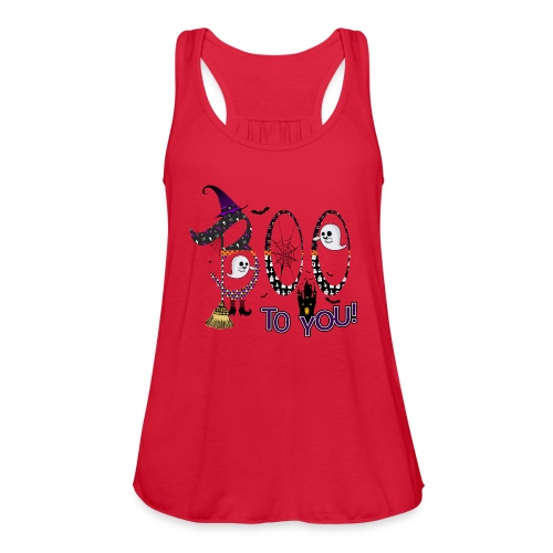 Halloween Boo To You - Women's Flowy Tank Top by Bella