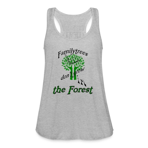 genealogy family tree forest funny birthday gift - Women's Flowy Tank Top by Bella