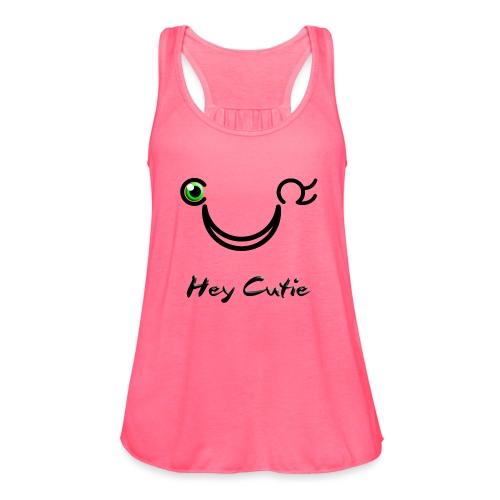 Hey Cutie Green Eye Wink - Women's Flowy Tank Top by Bella