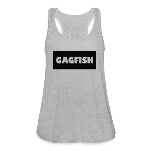 GAGFISH BLACK LOGO - Women's Flowy Tank Top by Bella