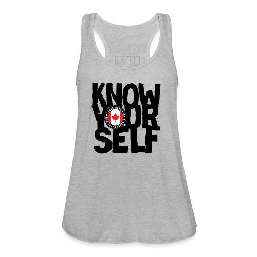 know black - Women's Flowy Tank Top by Bella