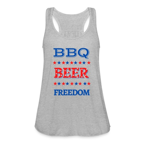 BBQ BEER FREEDOM - Women's Flowy Tank Top by Bella