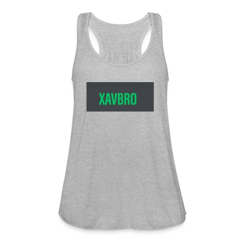 xavbro green logo - Women's Flowy Tank Top by Bella
