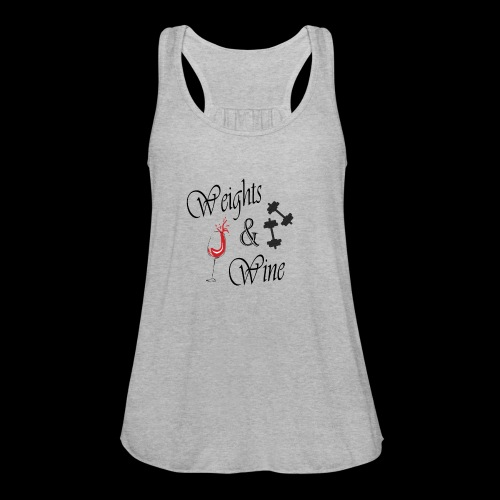 weights and wine - Women's Flowy Tank Top by Bella
