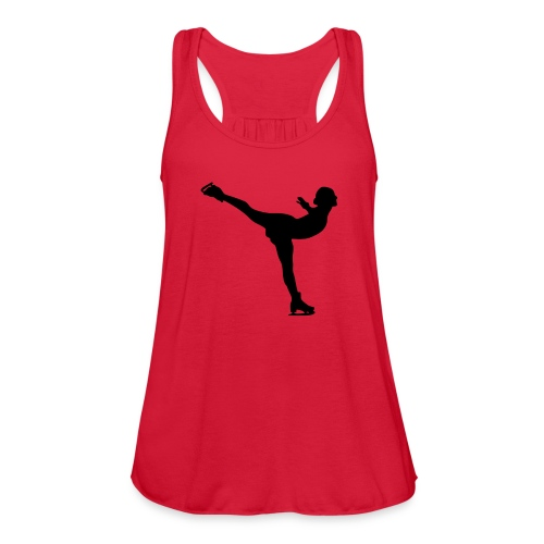 Ice Skating Woman Silhouette - Women's Flowy Tank Top by Bella