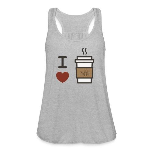 I Love Coffee - Women's Flowy Tank Top by Bella