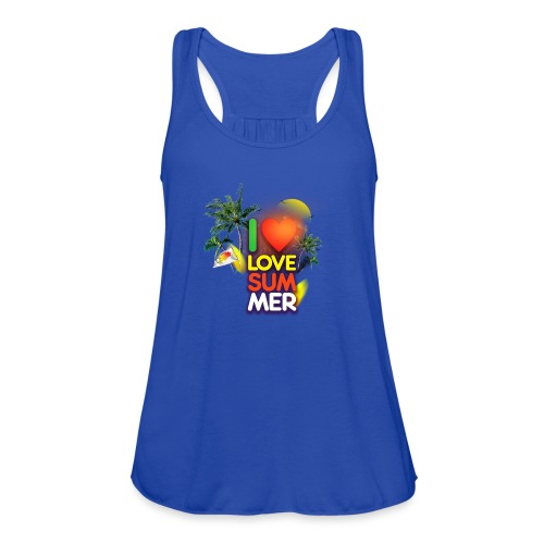 I love summer - Women's Flowy Tank Top by Bella