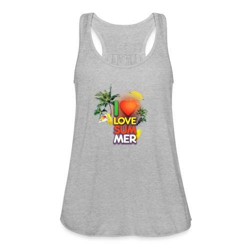 I love summer - Women's Flowy Tank Top by Bella