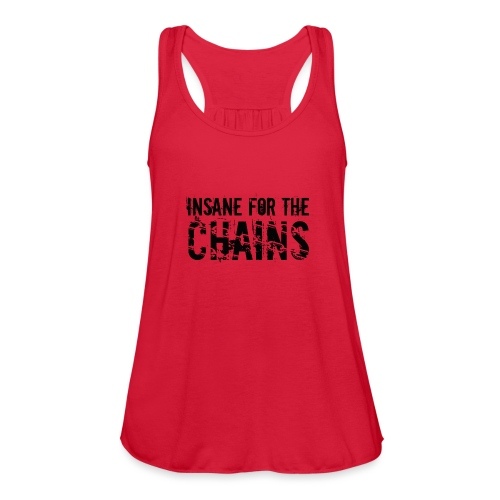 Insane For the Chains Disc Golf Black Print - Women's Flowy Tank Top by Bella