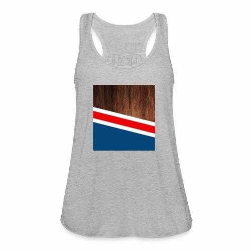 Wooden stripes - Women's Flowy Tank Top by Bella