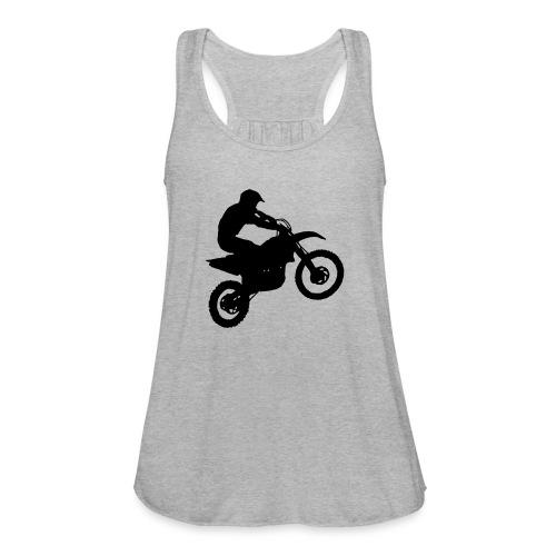 Motocross Dirt biker - Women's Flowy Tank Top by Bella