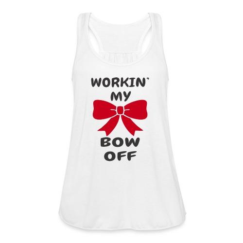 Workin' My Bow Off - Women's Flowy Tank Top by Bella