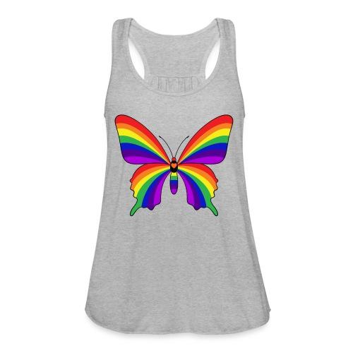 Rainbow Butterfly - Women's Flowy Tank Top by Bella