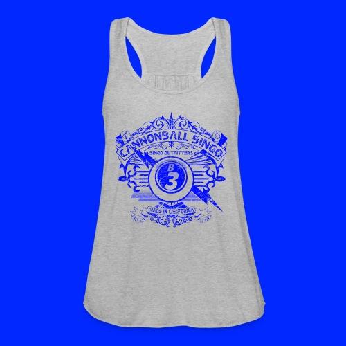 Vintage Cannonball Bingo Crest Blue - Women's Flowy Tank Top by Bella