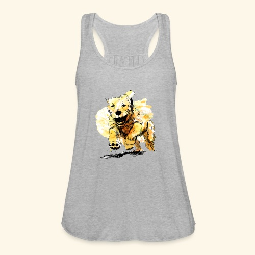 oil dog - Women's Flowy Tank Top by Bella