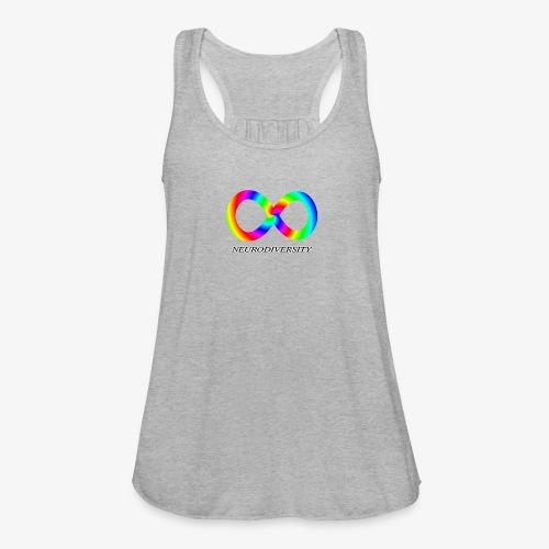 Neurodiversity with Rainbow swirl - Women's Flowy Tank Top by Bella