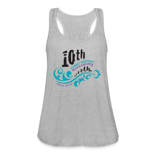 10th Anniversary Logo Color - Women's Flowy Tank Top by Bella