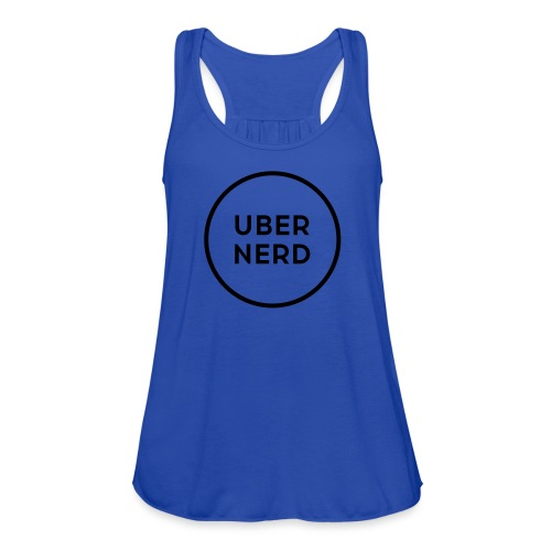 uber nerd logo - Women's Flowy Tank Top by Bella