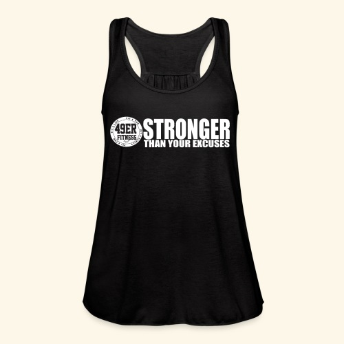 strongerblack - Women's Flowy Tank Top by Bella