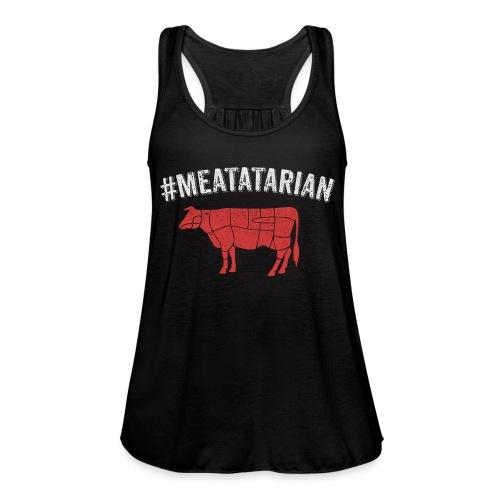 Meatatarian Print - Women's Flowy Tank Top by Bella