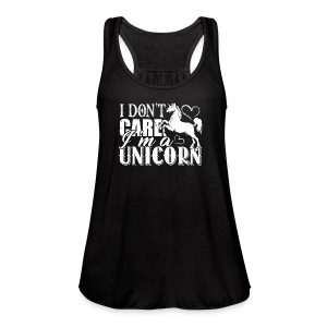 I Don't Care I'm A Unicorn Tee Shirts - Women's Flowy Tank Top by Bella