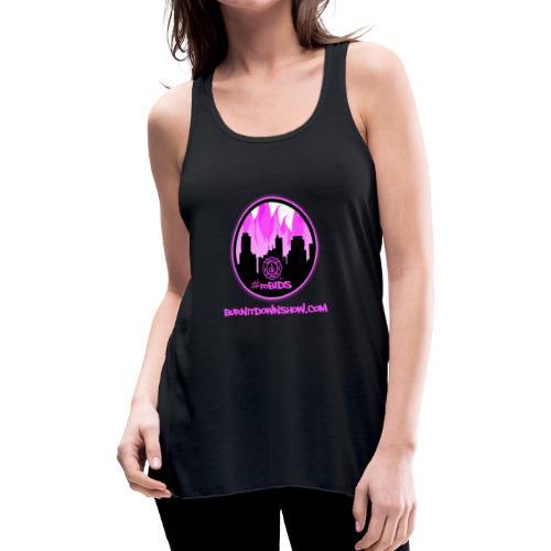 pink logo bid - Women's Flowy Tank Top by Bella
