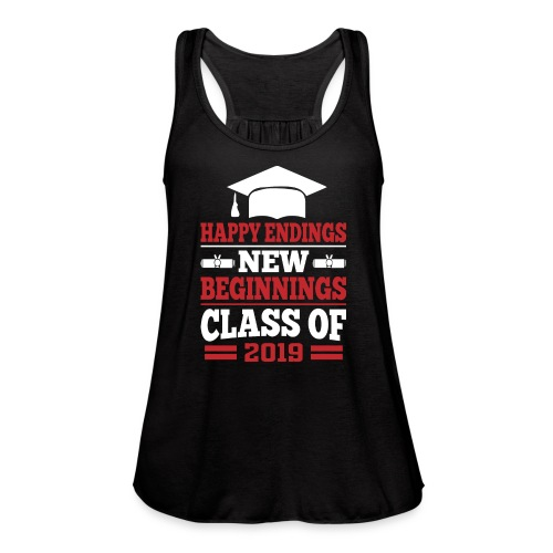 Senior T-Shirts - Class of 2019 Shirts - Women's Flowy Tank Top by Bella
