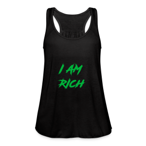 I AM RICH (WASTE YOUR MONEY) - Women's Flowy Tank Top by Bella