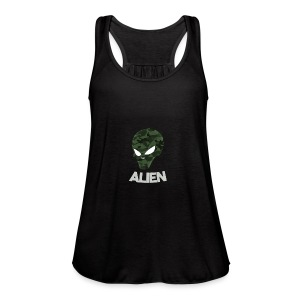 Military Alien - Women's Flowy Tank Top by Bella