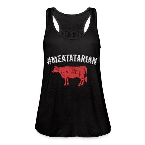 Meatatarian Print - Women's Flowy Tank Top by Bella